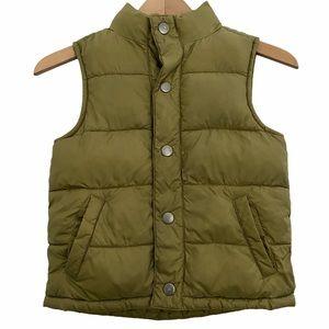 Gymboree Wildcat Trail Olive Green Puffy Vest Boys